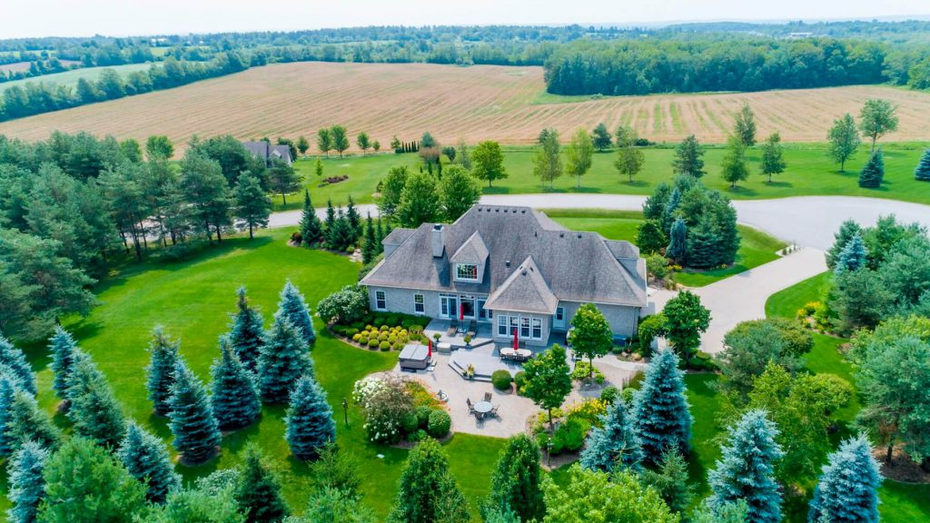 Drone View of Large Property