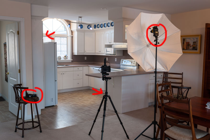 Photographing interiors with flash for Interior photography lighting setup